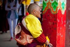 Nun in the Sertar buddhish college Stock Photos
