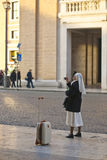 Nun in Vatican Royalty Free Stock Images