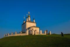 Nun walking to church Stock Photos