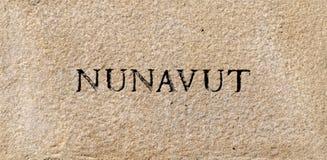 Nunavut sign Royalty Free Stock Images