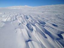 Nunavut snow drift Royalty Free Stock Image