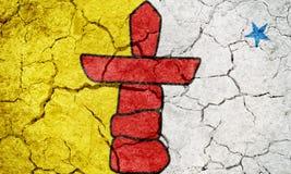 Nunavut, territoire de Canada, drapeau Images libres de droits