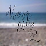 Nunca abandone la playa Fotografía de archivo libre de regalías