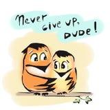 Nunca abandone a pájaros los amigos que el tipo anima Fotos de archivo libres de regalías