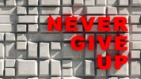 Nunca dé para arriba Foto de archivo