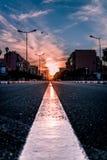Nunca falte o sol ajustado em C4marraquexe Marrocos fotografia de stock royalty free