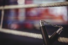 Nunchaku установило на кольце Стоковое Фото