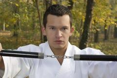 Nunchaku  and karate Royalty Free Stock Photo