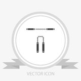 Nunchaku vector icon Royalty Free Stock Photo