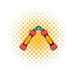Nunchaku weapon icon, comics style Stock Image
