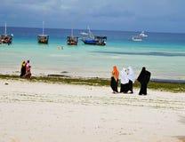 Nungvi海滩桑给巴尔坦桑尼亚 库存照片