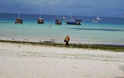 Nungvi Beach Zanzibar Tanzania Royalty Free Stock Image