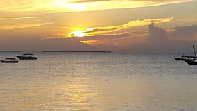 Nungwe strand, Zimmie Royaltyfri Bild