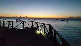 Nungwe strand Zimmie Fotografering för Bildbyråer