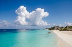 Nungwi strand på Zanzibar Royaltyfria Bilder