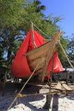 Dhow-building yard, Nungwi, Zanzibar, Tanzania Stock Images