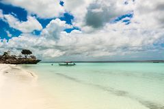 Nungwi Zanzibar lovely day withe sand clear water.  Stock Photos