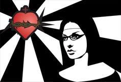 nunna royaltyfri illustrationer