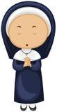 Nunna i blåttdräkt Royaltyfri Bild