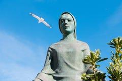 Nunna och Seagull Arkivbild