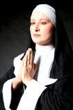 nunna som praing Royaltyfri Fotografi