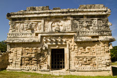 Nunnery at Chichen Itza. Ancient building called the nunnery by the Spanish at Chichen Itza, Mexico Royalty Free Stock Image