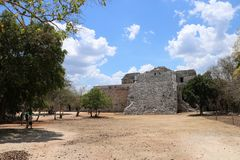 Nunnery , Chichen Itza. Nunnery & x28;Edificio de las Monjas& x29;, a part of the Maya Chichen Itza archaeological site in the Mexican state of Yucatan. It is a Royalty Free Stock Photo