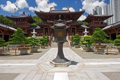 Nunnery de lin do qui, templo chinês do estilo da dinastia de Tang, Hong Kong Fotografia de Stock