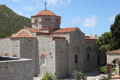 Nunnery Evangelismos on Patmos island, Greece Stock Image