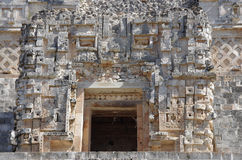 Nunnery Quadrangle. Detail of a wall in the Nunnery Quadrangle, Uxmal, Mexico stock photography