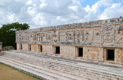 Nunnery Quadrangle - Uxmal Royalty Free Stock Photos