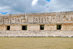 Nunnery Quadrangle - Uxmal Royalty Free Stock Photography