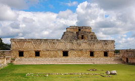 Nunnery Quadrangle in Uxmal. General View of Nunnery Quadrangle, Uxmal, Yucatan stock photo