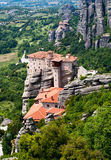 Nunnery Roussanou, Meteora, Greece. Orthodox Nunnery Roussanou on the rock, Meteora, near Kalampaka, Fessalia, Greece Stock Images