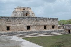 The Nunnery Ruins in the Uxmal Mayan City Ruins royalty free stock photos