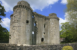 Nunney城堡,萨默塞特 库存图片