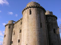 Nunney Castle. Rare french style Castle in Nunney somerset England Stock Images