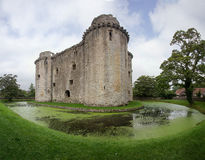Nunney Castle and Moat Stock Image