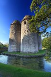 Nunney Castle Somerset. Medieval 13th Century Nunney Castle in Somerset England Stock Photo