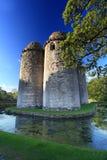 Nunney Castle Somerset. Medieval 13th Century Nunney Castle in Somerset England Stock Photo
