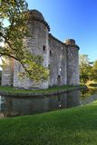Nunney Castle Somerset. Medieval 13th Century Nunney Castle in Somerset England Stock Photography