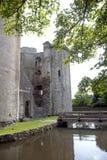 Nunney Schloss Stockfotografie
