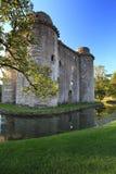 Nunney slott Somerset Arkivbild