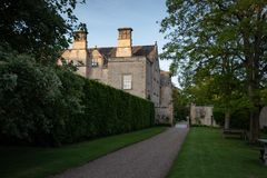 Nunnington Hall on a Summer evening stock photography