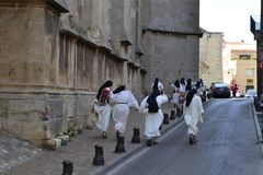 Nunnor på körningen Royaltyfri Foto