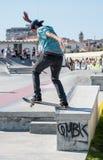 Nuno Cardoso during the DC Skate Challenge Royalty Free Stock Image