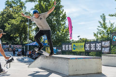Nuno Cardoso during the DC Skate Challenge Royalty Free Stock Photography