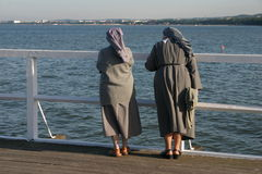 Nuns #2.  royalty free stock photography