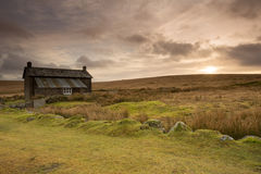 Nuns Cross Farm Dartmoor Devon Uk. Nuns Cross Farm now abandoned and used as a camping barn. Dartmoor National Park Devon Uk Royalty Free Stock Photography