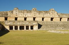 Nuns' house. The Nuns' House in Uxmal Mayan City, Mexico Royalty Free Stock Photos